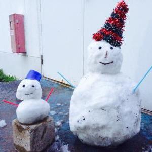 雪だるま来店!?
