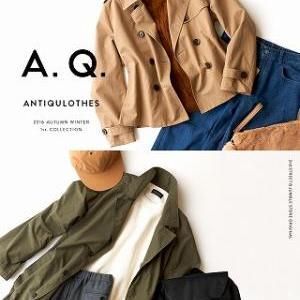 A.Q.16AWレディース新作入荷!