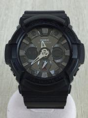 クォーツ腕時計/デジアナ/BLK/BLK