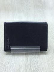 カードケース/レザー/BLK