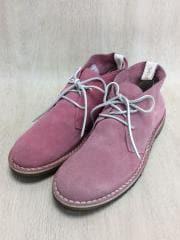 ブーツ/43/PNK/スウェード