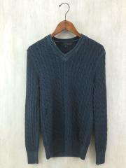 セーター(厚手)/44/ウール/BLK