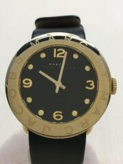 MBM1154/クォーツ腕時計/アナログ/レザー/BLK/BLK/箱付
