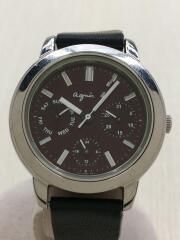 腕時計/アナログ/--/WHT/BLK