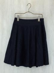 スカート/36/コットン/BLK/チェック/薄手/リボン