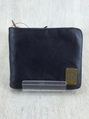 ラウンドジップ2つ折り財布/--/BLK
