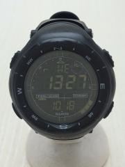 NAVITEC/クォーツ腕時計/デジタル/BLK/BLK/使用感有/風防傷有
