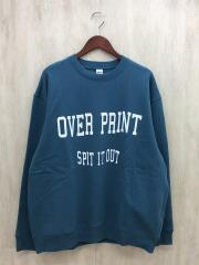 over print/オーバープリント/スウェット/XL/コットン
