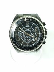 ポリス/クロノグラフ/クォーツ腕時計/アナログ/ステンレス/ブラック/黒/12545J