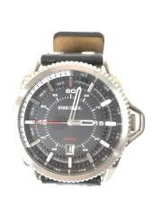 クォーツ腕時計/アナログ/レザー/ブラック/黒色/セカスト/DZ-1790/セカンドストリート