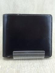 ブリティッシュグリーン/2つ折り財布/レザー/BLK/無地