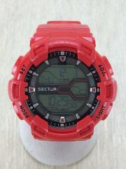 クォーツ腕時計/デジタル/RED