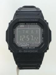 ソーラー腕時計・G-SHOCK/デジタル/ラバー/BLK