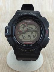 G-SHOCK/MUDMAN/クォーツ腕時計/アナログ/ラバー/BLK/BLK/GW-9300-1JF/マッドマン /