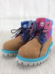 キッズ靴/18cm/ブーツ/スウェード/マルチカラー