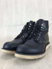 ブーツ/US9/BLK/レザー/プレーントゥ/D
