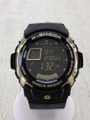 クォーツ腕時計・G-SHOCK/デジタル/BLK/スタンダード/トレジャー ゴールド/G-7700G