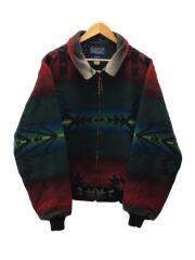 90s/HIGH GRADE WESTERN WEAR/総柄ウールジャケット・グリーン/XL/USA製