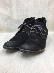 size 42(26.5cm)/R-227 SUEDE CHUKKA BOOTS チャッカブーツ バックジップ