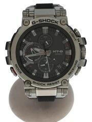 ソーラー腕時計・G-SHOCK/アナログ/SLV/BLK