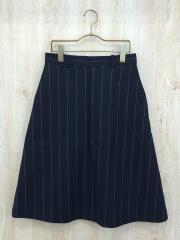 スカート/38/ウール/NVY/ストライプ/マカフィ