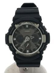 クォーツ腕時計/アナログ/--/BLK/ブラック