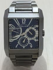クォーツ腕時計/アナログ/BLU/GRY