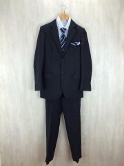 スーツ/160cm/ポリエステル/BLK/ストライプ