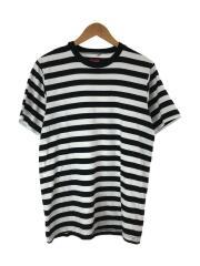 Tシャツ/17SS/micro stripe tee/M/コットン/GRN/ボーダー