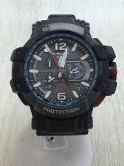 ソーラー腕時計・G-SHOCK/アナログ/BLK/GPW-1000-1AJF/スカイコックピット