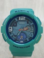 クォーツ腕時計・Baby-G/デジアナ/BLU/BGA-190