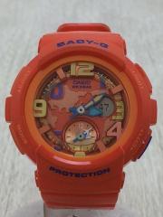 クォーツ腕時計・Baby-G/アナログ/ORN/BGA-190/本体のみ