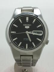 自動巻腕時計/7S26-02L0/アナログ/ブラック/シルバー