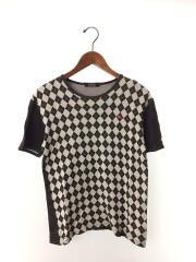 バーバリーブラックレーベル/Tシャツ/2/コットン/ブラック/総柄