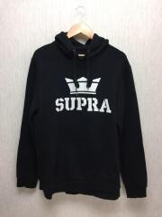 スープラ/パーカー/L/コットン/ブラック