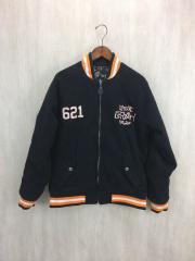スタジャン/XL/ウール/BLK