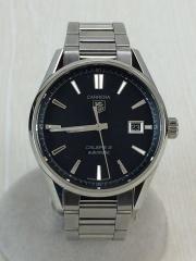 自動巻腕時計・カレラキャリバー5/アナログ/ステンレス/BLK/SLV