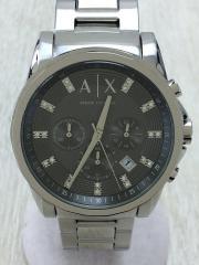 クォーツ腕時計/アナログ/GRY/SLV