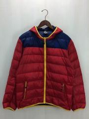 ダウンジャケット/XL/ナイロン/RED