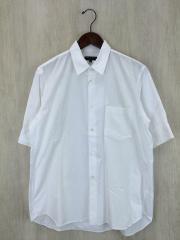 7分袖シャツ/M/コットン/WHT/PI-B052