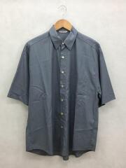 半袖シャツ/4/コットン/BLU