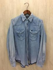 ×Wrangler/デニムウェスタンシャツ/38/コットン/IDG