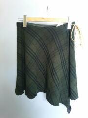 スカート/36/ウール/GRN/チェック/FXF87-801/バーバリー
