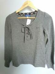 セーター(薄手)/38/ウール/グレー/E1N27-274-08/ニット/カットソー