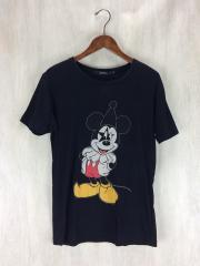 Tシャツ/S/コットン/BLK/プリント