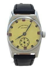 WEST END WATCH CO/腕時計/アナログ/レザー/CRM/BLK