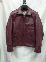 ADDICT CLOTHES/レザージャケット/AD-GU-01/バーガンディ/34/ホースハイド