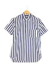 半袖シャツ/XS/コットン/ストライプ/S24005