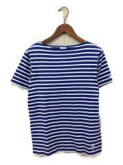Tシャツ/3/コットン/BLU/ボーダー