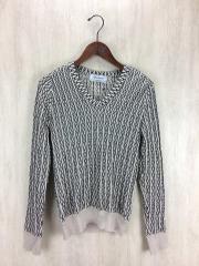セーター(薄手)/XS/ウール/BLK